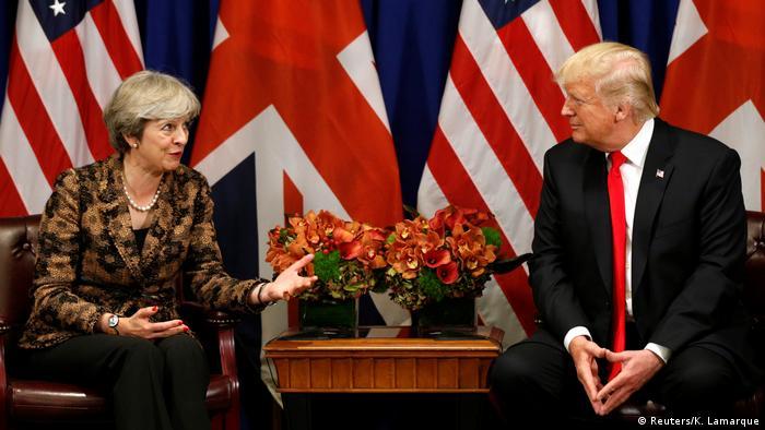 UN Generalversammlung in New York | Donald Trump & Theresa May