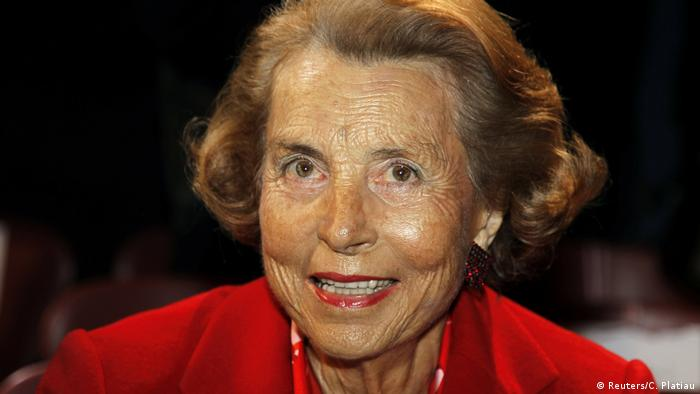 Liliane Bettencourt, heiress to the L'Oreal fortune