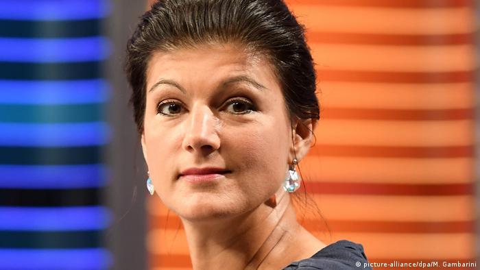 Schlussrunde von ARD und ZDF zur Bundestagswahl | Sahra Wagenknecht (picture-alliance/dpa/M. Gambarini)