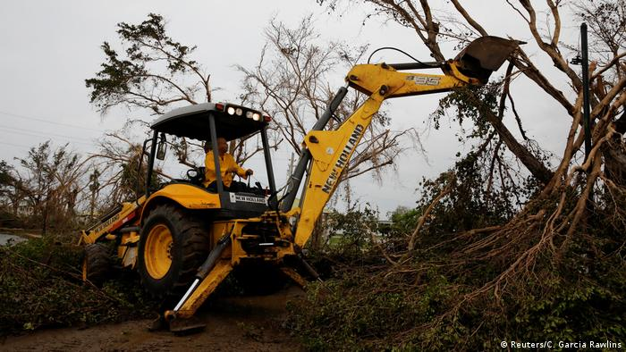 The clear-up following Hurricane Maria has started on Puerto Rico