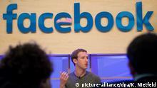 ARCHIV - Facebook-Chef Mark Zuckerberg spricht am 25.02.2016 in Berlin im Facebook Innovation Hub. Facebook veröffentlicht am 02.11,2016 die Zahlen zum 3.Quartal. Foto: Kay Nietfeld/dpa +++(c) dpa - Bildfunk+++ | Verwendung weltweit