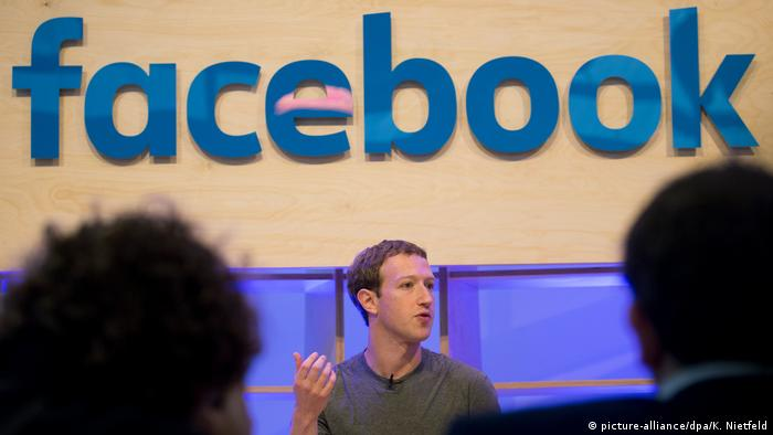 Facebook founder Mark Zuckerberg speaking in Berlin