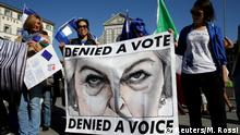 Italien Brexit Rede von Theresa May in Florenz Protest