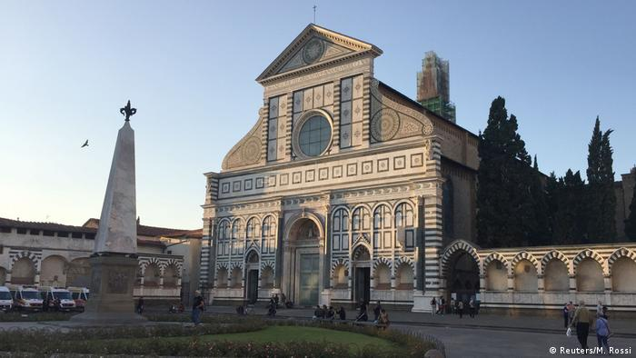 May's speech was given in a building near the Santa Maria Novella church in Florence