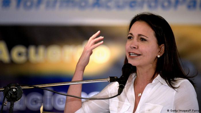 Venezoela, Oppositionspolitikerin María Corina Machado (Getty Images/F.Parra)