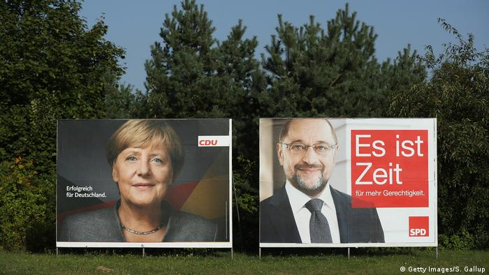 Election posters 2017 (Getty Images/S. Gallup)