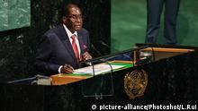 Robert Mugabe UN Rede (picture-alliance/Photoshot/L.Rui)
