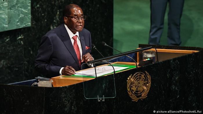 Presidente do Zimbabué, Robert Mugabe, na Assembleia Geral das Nações Unidas em Nova York