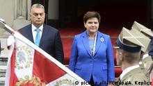 Polen Viktor Orban in Warschau