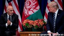 USA Ashraf Ghani und Donald Trump auf der UN Vollversammlung in New York