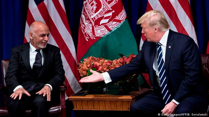 USA Ashraf Ghani und Donald Trump auf der UN Vollversammlung in New York (Getty Images/AFP/B. Smialowski)