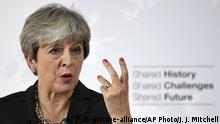 Theresa May speaking in Florence (picture-alliance/AP Photo/J. J. Mitchell)