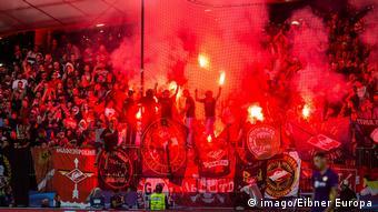 Fußball Maribor SLO UEFA CL NK Maribor vs Spartak Moskau Gruppe E im Bild Fans