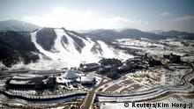 Part of the area in Pyeongchang designated for the 2018 Winter Games