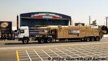 Parade Militär Rakete Iran