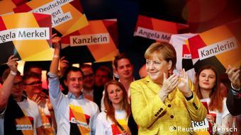 Berlin, Bundeskanzlerin Angela Merkel im Wahlkampf