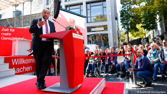 Martin Schulz speaking in Aachen