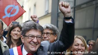 Лідер Нескореної Франції Жан-Люк Меланшон під час акції протесту