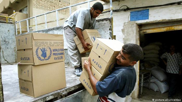 Irak Nahrungsmittel-Verteilung (picture-alliance/dpa)