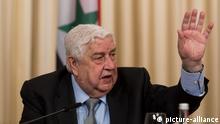 Walid al-Muallim, Außenminister der Syrischen Arabischen Republik