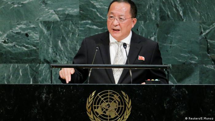 Лі Ен Хо під час виступу на Генасамблеї ООН