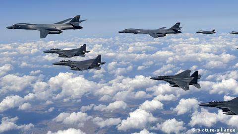 US jets fly over Korea in 2017