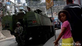 Militares mais uma vez na Rocinha, em 2017