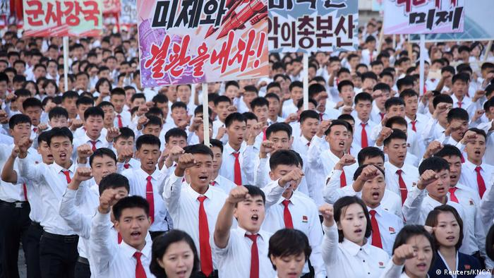 Nordkorea Pjöngjang Demonstration gegen USA (Reuters/KNCA)