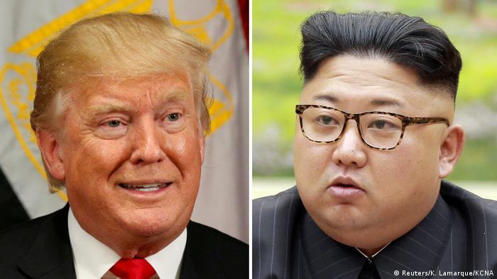 Kombi-Bild Trump und Kim Jong Un
