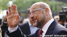 Würselen Martin Schulz vor Wahllokal zur Bundestagswahl
