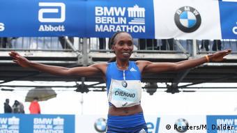Deutschland Berlin Marathon Siegerin Gladys Cherono Kiprono