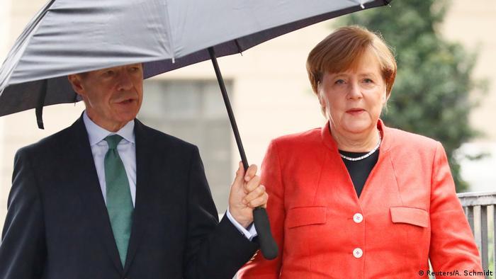 Bundestagswahl 2017   vor Stimmabgabe Angela Merkel, Bundeskanzlerin (Reuters/A. Schmidt)