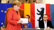 Bundestagswahl 2017   Stimmabgabe Angela Merkel, Bundeskanzlerin