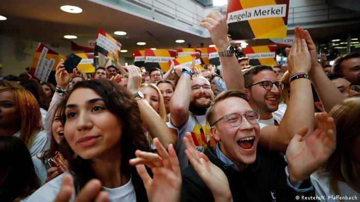 Bundestagswahl 2017 | CDU - Anhänger in Berlin (Reuters/K. Pfaffenbach)