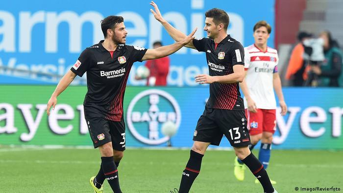 Bundesliga Bayer  Leverkusen Vs Hamburger Sv Kevin Volland Und Lucas Alario Imago