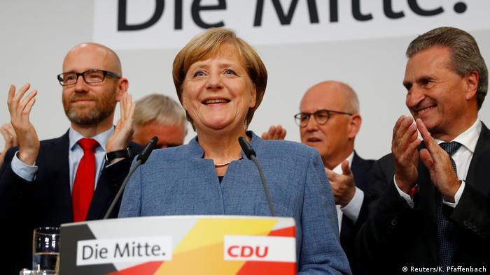 Bundestagswahl 2017 | CDU - Angela Merkel, Bundeskanzlerin (Reuters/K. Pfaffenbach)