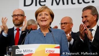 Ангела Меркель после объявления результатов выборов