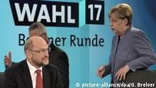 German election, Merkel and Schulz