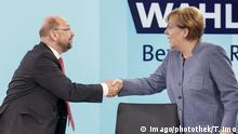Bundestagswahl | Elefantenrunde Schulz und Merkel