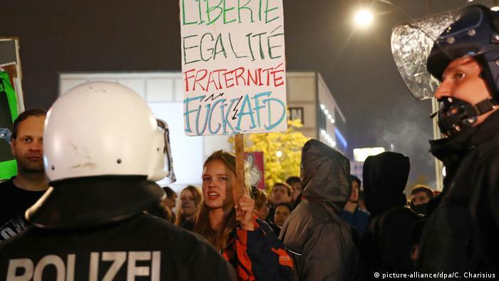 Deutschland Bundestagswahl | AfD Wahlparty | Demo
