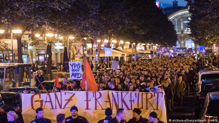 Germany election, AfD protest in Frankfurt (picture-alliance/dpa/A. Arnold)