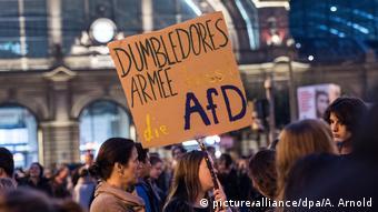 Deutschland Bundestagswahl- Proteste gegen AfD in Frankfurt