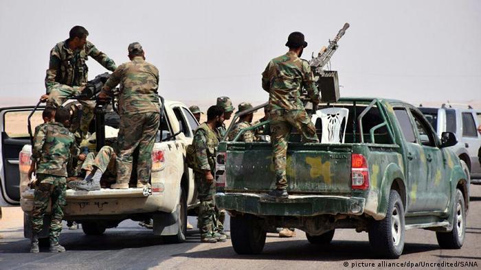 Syrian troops fighting IS in Deir el-Zour Foto: Uncredited/SANA/AP/dpa +++(c) dpa - Bildfunk+++