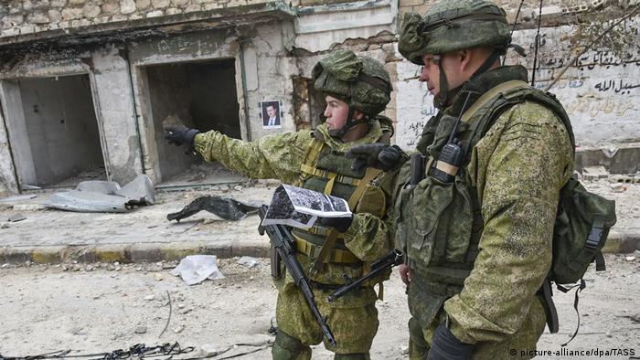 Российские солдаты в Сирии
