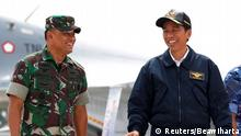 Indonesien Generalstabchef Gatot Nurmantyo und Präsident Joko Widodo