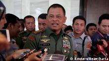 Indonesien Generalstabchef Gatot Nurmantyo