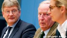 Jörg Meuthen, Alexander Gauland e Alice Weidel, da AfD