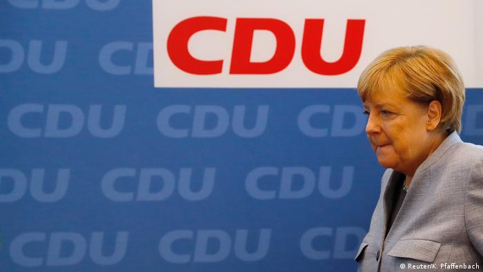 Deutschland Bundestagswahl CDU Merkel PK (Reuter/K. Pfaffenbach)