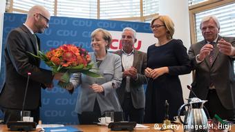 Deutschland Bundestagswahl CDU Merkel PK (Getty Images/M. Hitij)