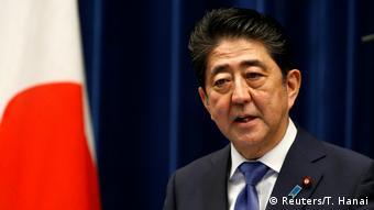Japan Shinzo Abe kündigt Neuwahlen PK in Tokio